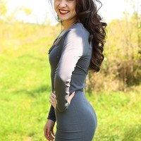 Seamless Perfection Long Sleeve Layering Tunic Dress in Grey