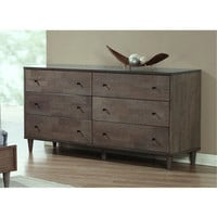 Vilas Light Charcoal 6-drawer Dresser | Overstock.com