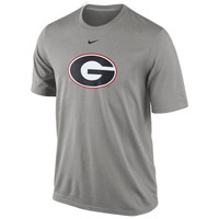 Nike Georgia Bulldogs Logo Legend Dri-FIT Performance T-Shirt - Gray