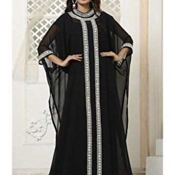 Indian Attire: dresses, Women Wedding Farasha Kaftan Caftan Abaya Evening Party Maxi Dress