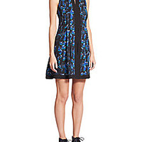 Proenza Schouler - Abstract-Print Georgette Shift - Saks Fifth Avenue Mobile