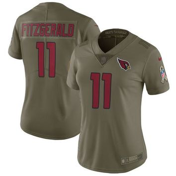 Women's Arizona Cardinals Larry Fitzgerald Nike Olive Salute to Service Limited Jersey