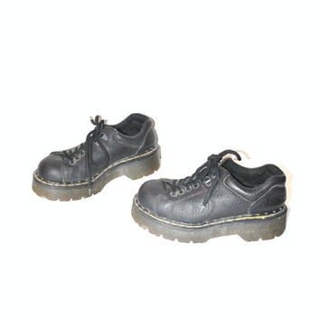Dr MARTENS / vintage 80s black low rise creepers GOTH grunge chunky DMs Docs