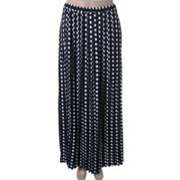 MICHAEL Michael Kors Womens Pleated Printed Maxi Skirt