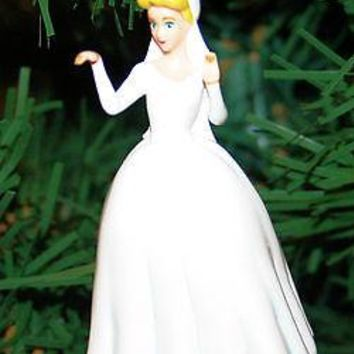 Licensed cool Custom Disney Princess Cinderella WEDDING DRESS Holiday Christmas Ornament PVC