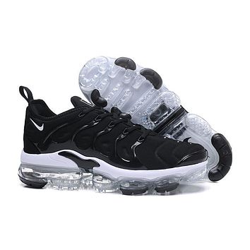 2018 Nike Air VaporMax Plus TN Black White Sport Running Shoes