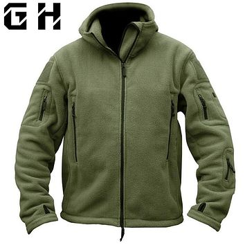 Military Tactical Softshell Fleece Jacket Hooded Winter Men US Army Polartec Sportswear Clothes Warm Coat Casual Jackets
