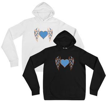 Flaming Tattoo Heart Hoodie