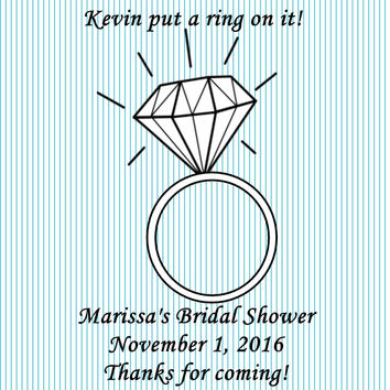 Diamond Bridal Shower Personalized Favor Tags
