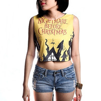 The Nightmare Before Christmas Shirt T-Shirt Crop Top Tank Size S M L