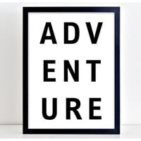 Adventure Print Motivational Poster Word Art Print Kitchen Quote Motivation Famous Wall Sign Letters Home Decor  PP46