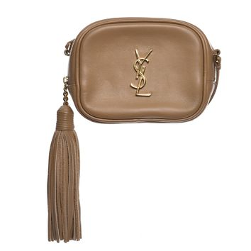 SAINT LAURENT Nappa Monogram Blogger Bag Deep Beige