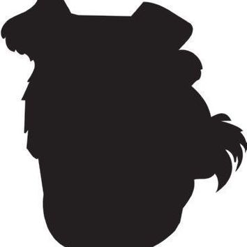 Welsh Terrier Silhouette Dog Puppy Breed Long Die Cut Vinyl Transfer Decal Sticker
