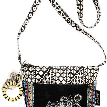 Laurel Burch Polked Dot Gatos Crossbody Purse