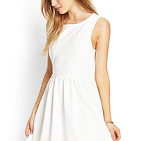 FOREVER 21 MatelassA(c) Fit & Flare Dress