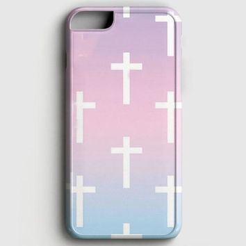 Ombre Pastel Crosses iPhone 6 Plus/6S Plus Case