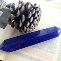 Blue Double Terminated Glass Point