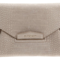 Real vs. Steal – Givenchy Croc-Stamped Antigona Envelope Clutch