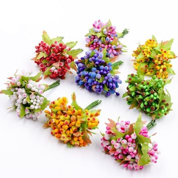 Mini Artificial Stamen Bud Bouquet Wedding Decoration