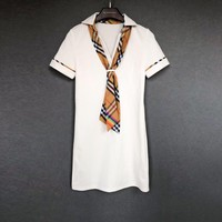 Burberry Women V-neck Tee Dress