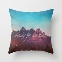 MOUNTAIN ADVENTURE Throw Pillow in 3 SIZES *** perfect Quality and Look *** Society6 * Monika Strigel