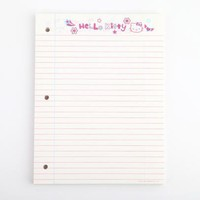 Hello Kitty Loose Leaf Paper: Neon