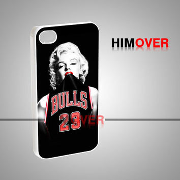 Marilyn Monroe Chicago Bulls - iPhone 4/4s/5/5s/5c Case - Samsung Galaxy s2/s3/s4 Case - Black or White