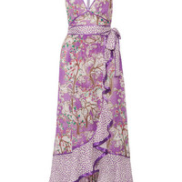 Marc Jacobs - Ruffled printed cotton and silk-blend halterneck dress