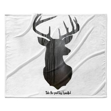 "Suzanne Carter ""The Road2"" Contemporary Nature Fleece Throw Blanket"