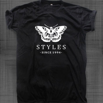 Harry styles tattoo shirt, fashion tee hipster, unisex shirt black and white clothing S,M,L
