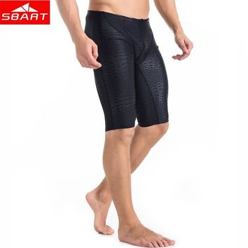 SBART Men's Wetsuits Trunks Sharkskin Lycra Breathable Swim Dive Swimwear Rash Guards Swimming Surfing Diving Bathing Suits