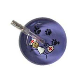 UltraScope Single Stethoscope Stick Nurse Lavender with Paws