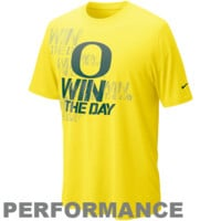 Nike Oregon Ducks Win the Day Football Practice T-Shirt - Yellow