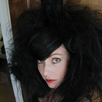 Wig with Owl Bird// Party Wig ooak Carnival by TiffanyDeMichele