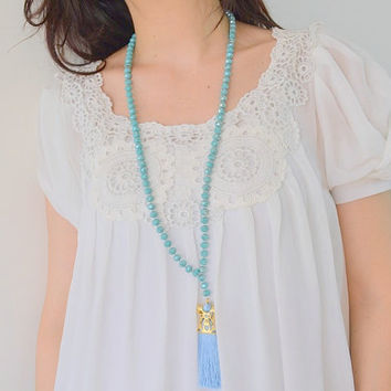 CAFTAN ROSARY NECKLACE, caftan necklace, long necklace, rope necklace, rosary necklace, tasbeeh necklace, tesbih necklace, tassle necklace