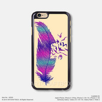 Purple Feather Bird Tattoo iPhone 6 6Plus case iPhone 5s case iPhone 5C case iPhone 4 4S case 550