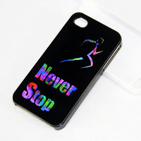 Never Stop Style iPhone 4S/4 Case,iPhone 5 Case,iPod Touch 5 and 4 Case, Rubber Case and Plastic Case