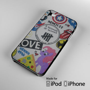 5SOS art college iPhone 4 4S 5 5S 5C 6, iPod Touch 4 5 Cases