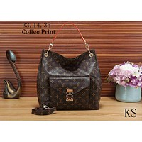 LV Louis Vuitton 2018 new women's fashion brand fashion shoulder bag handbag F-KSPJ-BBDL Coffee Print
