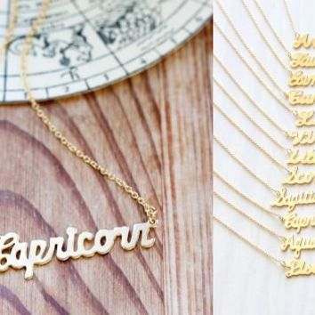 Retro Zodiac Sign Necklace