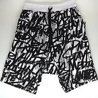 D9 Reserve - Drippy Trippy Drop Crotch Shorts