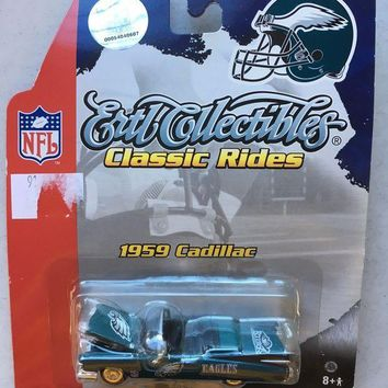 PEAPOK8 BRAND NEW PHILADELPHIA EAGLES 1959 CADILLAC COLLECTIBLE CAR SHIPPING