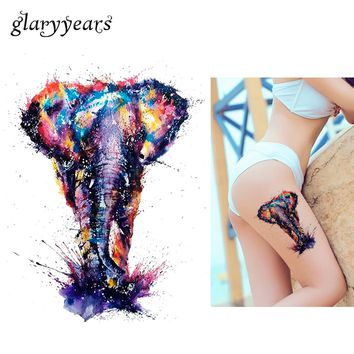 Colorful Elephant Temporary Tattoo