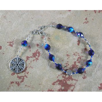 Cailleach Pocket Prayer Beads:  Gaelic Celtic Goddess of Winter and Storms, Crone Goddess