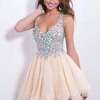 2014 Blush Sexy Short Homecoming Dress 9857