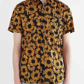 Koto Short-Sleeve Sunflower Breezy Button-Down Shirt