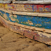 Wooden Boat Washed Paint