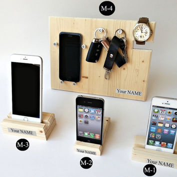 iPhone Dock,  iPhone Stand, iPhone Wood Docking Station, iPhone Charging Stand, For iPhone 6 / 6 Plus, iPhone 5s, iPhone 5c, iPhone 4s
