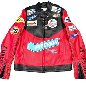 Smugler's Moon Black & Red Racers Patch Jacket