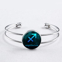 Zodiac Sign Bangle-Sagittarius   Bracelet, Constellation Jewelry,Astrology Bracelet, Astrology Jewelry, Astrological Jewelry